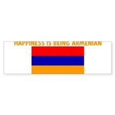 HAPPINESS IS BEING ARMENIAN Bumper Bumper Sticker