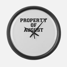 Property of AUGUST Large Wall Clock