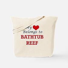 My Heart Belongs to Bathtub Reef Florida Tote Bag