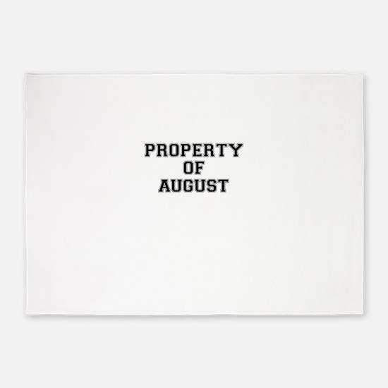 Property of AUGUST 5'x7'Area Rug