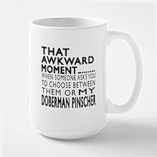 Awkward Doberman Pinscher Dog Designs Large Mug