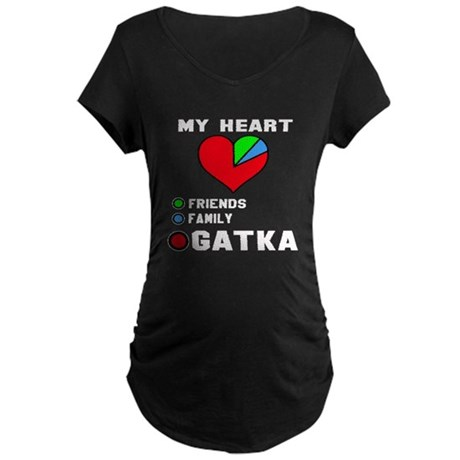 My Heart friends, family, G Maternity Dark T-Shirt