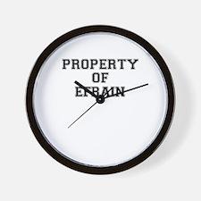 Property of EFRAIN Wall Clock