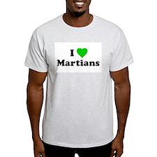 I Love Martians Ash Grey T-Shirt