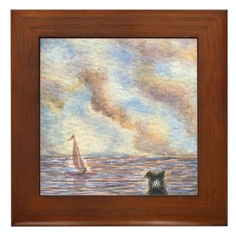 Old seadog Framed Tile