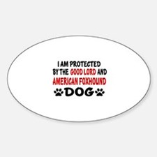 Protected By American Foxhound Dog Decal