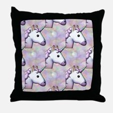 hologram unicorn emoji Throw Pillow
