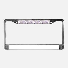 hologram unicorn emoji License Plate Frame
