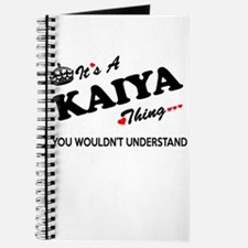KAIYA thing, you wouldn't understand Journal