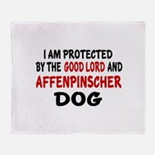 Protected By Affenpinscher Dog Throw Blanket