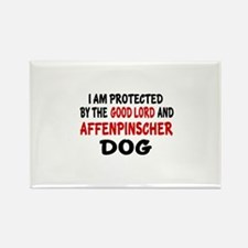 Protected By Affenpinsc Rectangle Magnet (10 pack)