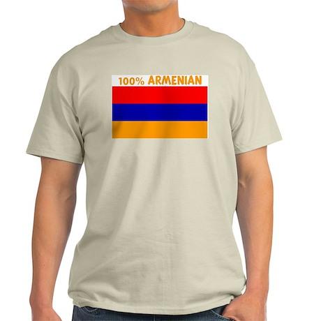 100 PERCENT ARMENIAN Light T-Shirt