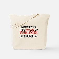 Protected By Belgian Laekenois Tote Bag