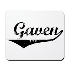 Gaven Vintage (Black) Mousepad