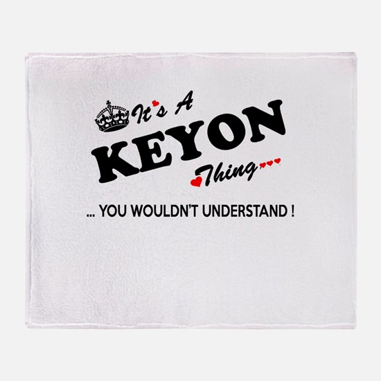 KEYON thing, you wouldn't understand Throw Blanket