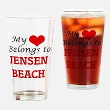 My Heart Belongs to Jensen Beach Fl Drinking Glass