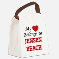 My Heart Belongs to Jensen Beach Canvas Lunch Bag