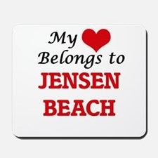 My Heart Belongs to Jensen Beach Florida Mousepad