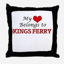 My Heart Belongs to Kings Ferry Georg Throw Pillow