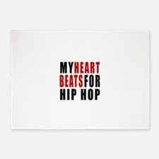 My Hear Beats For Hip Hop 5'x7'Area Rug