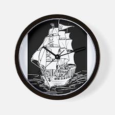 Pirate Ship Wall Clock