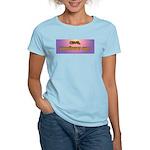 Cave, Vomiturus Sum! [Latin] Women's Pink T-Shirt