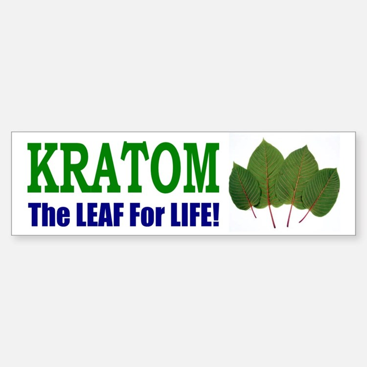 Bumper Sticker - Kratom, The Leaf For Life