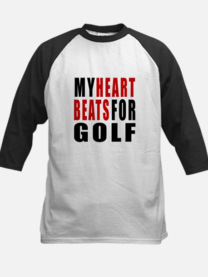 My Hear Beats For Golf Kids Baseball Jersey
