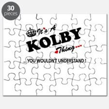 KOLBY thing, you wouldn't understand Puzzle