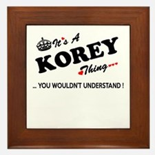 KOREY thing, you wouldn't understand Framed Tile