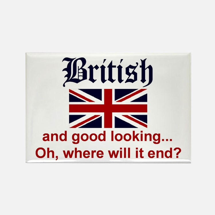 Good Looking British Rectangle Magnet (10 pack)