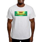 Cave, Vomiturus Sum! [Latin] Ash Grey T-Shirt