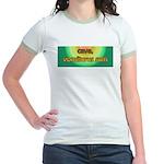 Cave, Vomiturus Sum! [Latin] Jr. Ringer T-Shirt