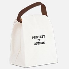 Property of AGUSTIN Canvas Lunch Bag