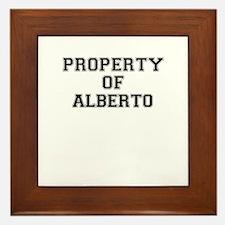 Property of ALBERTO Framed Tile