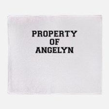 Property of ANGELYN Throw Blanket