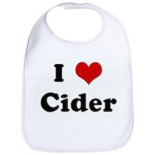 I Love Cider Bib
