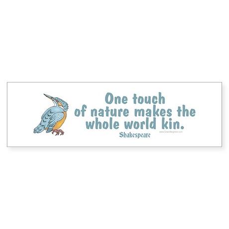 Shakespeare Nature & Peace Quote Bumper Sticke