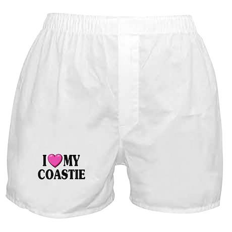 I Love ( Heart ) My Coastie Boxer Shorts