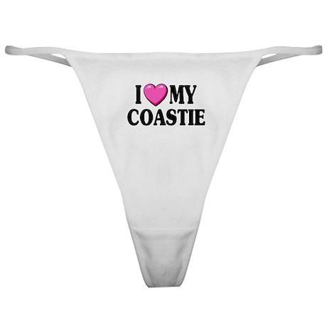 I Love ( Heart ) My Coastie Classic Thong