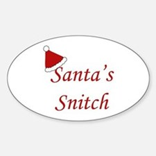 Santa's Snitch Oval Decal