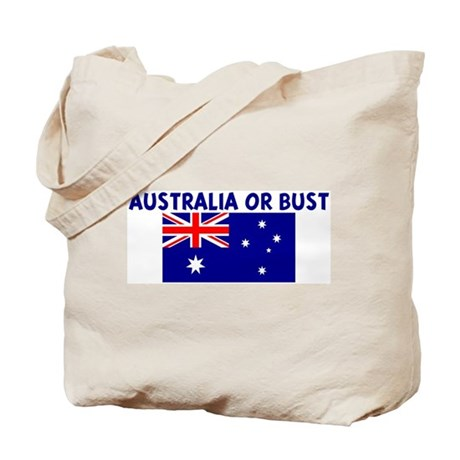 AUSTRALIA OR BUST Tote Bag