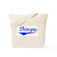 Devyn Vintage (Blue) Tote Bag