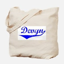 Devyn Vintage (Blue) Tote Bag