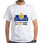 Happy Couch White T-Shirt