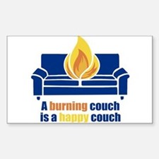 Happy Couch Rectangle Decal
