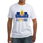 Happy Couch Fitted T-Shirt
