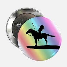 "Rainbow Native American 2.25"" Button"