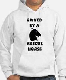 Owned by a Rescue Horse Hoodie