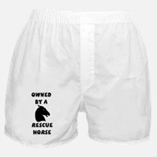 Owned by a Rescue Horse Boxer Shorts
